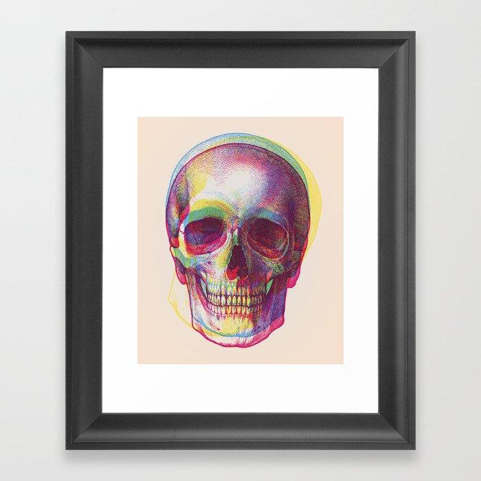 acid calavera Gerahmter Kunstdruck
