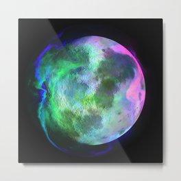 Rainbow Planet Metal Print