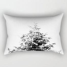Minimal fir tree portrait Rectangular Pillow