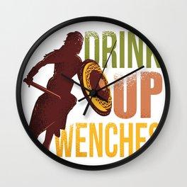 Girl Drink Up Wenches Renaissance Fair Wall Clock