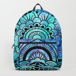 Galaxy Mandala Aqua Indigo Backpack