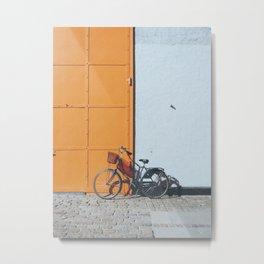 Bike and orange Metal Print