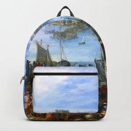 "Jan Brueghel the Elder ""Great Fish market"" Backpack"