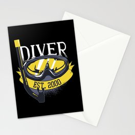 Diver Life Scuba Diving Stationery Cards