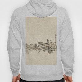 Berlin Germany Skyline Sheet Music Cityscape Hoody