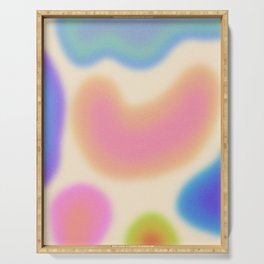 Funky Clouds (Dreamy Abstract Art) Serving Tray