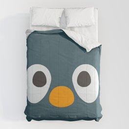 Cartoon Penguin Face Emote Comforters