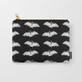 Skeletal Bat - inverted Carry-All Pouch
