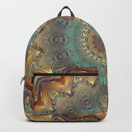 Colorful Mandala, India, Floral, Sun Backpack