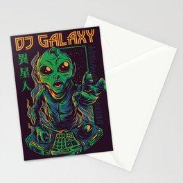 Dj Galaxy Illustration Stationery Cards