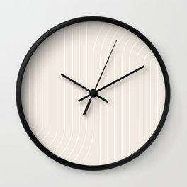 Minimal Line Curvature XI Wall Clock