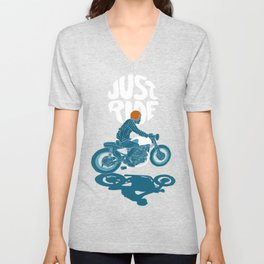 just ride Unisex V-Neck