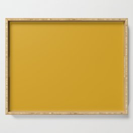 Sloane Golden - yellow, golden yellow solid coordinate Serving Tray