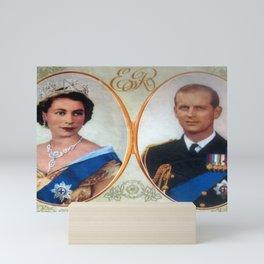Queen Elizabeth 11 & Prince Philip in 1952 Mini Art Print