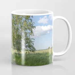 Rural Summer Landscape With River Coffee Mug