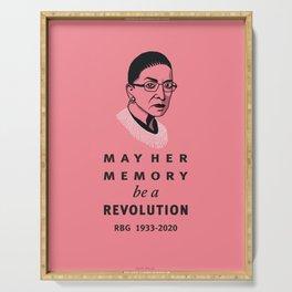 Ruth Bader Ginsburg May Her Memory be a Revolution Serving Tray