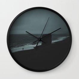 REYNISFJARA BLACK SAND BEACH / ICELAND Wall Clock