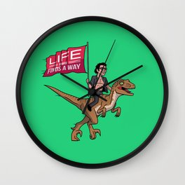 Life (UHHH) Finds A Way Wall Clock