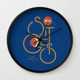 """So It Goes"" — Kurt Vonnegut Wall Clock"