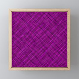 Royal ornament of their pink threads and dark intersecting fibers. Framed Mini Art Print