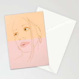 New media applied to fine art Stationery Cards