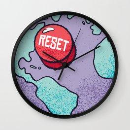 Reset World Earth Wall Clock