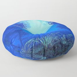 Spectacular Fantasy Glowing Celestial Body Landscape At Night Floor Pillow