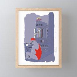 Diving in Madrid / Buceando en Madrid Framed Mini Art Print