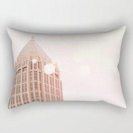 Building and Pink Bokeh Rectangular Pillow