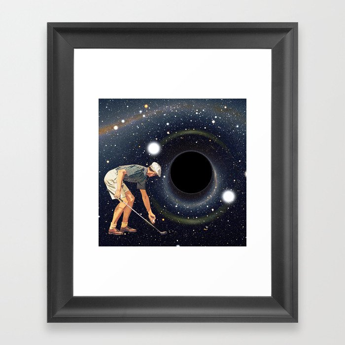 Black Hole in One Gerahmter Kunstdruck