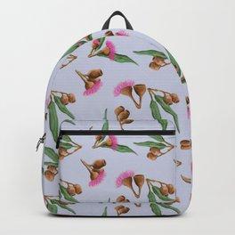 Gumnuts Pattern on soft grey Backpack