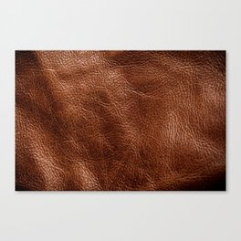 Vintage Dark Brown Leather Texure. Fine Leather Crafting, Handcrafts Work Space, Handmade Leather handcrafted, leather worker. Canvas Print