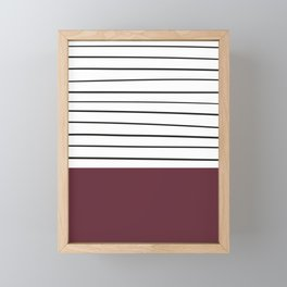 MARINERAS MAROON Framed Mini Art Print