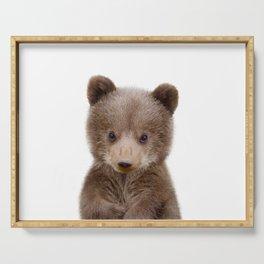 Baby Bear Cub Portrait Serving Tray