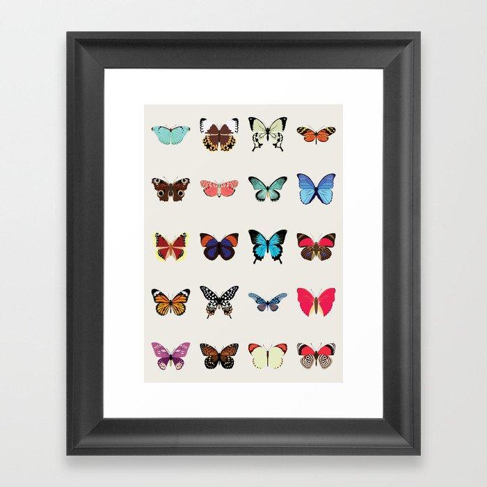 Butterflies Gerahmter Kunstdruck