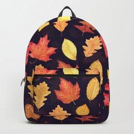 Autumn Leaves - dark plum Backpack