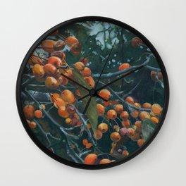 Crabapples Wall Clock
