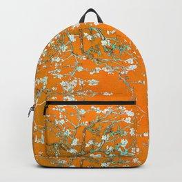 orange, sun, heath, flowers, summer, love,painting Backpack