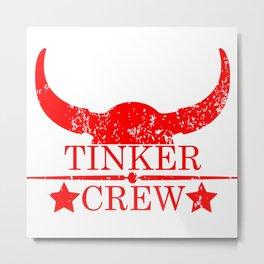 Tinker crew wild west emblem red Metal Print