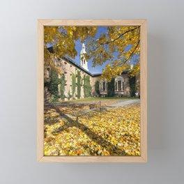 Nassau Hall Autumn Scenic Framed Mini Art Print