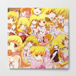 Shinobu anime collage Metal Print