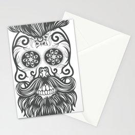 Hipster sugar skull 1 Stationery Cards