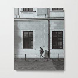 Streets of the old fortress Osijek, Croatia / Minimal / Lines / B&W Metal Print