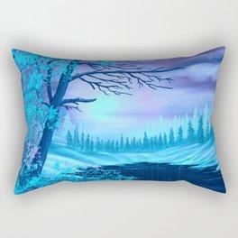 Winter Splendor Blue Haze Sunset Rectangular Pillow