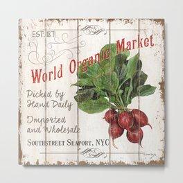 Market Sign 4 Metal Print