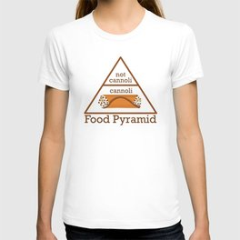 Cannoli is a Food Group Funny Food Pyramid T-shirt