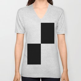 White Black Black White Unisex V-Neck