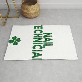 Luckiest Nail Technician Ever St. Patricks Day Lucky Irish Rug