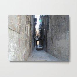 Blocked Street Alley in Italy Metal Print