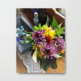 Carpark Flowers Metal Print